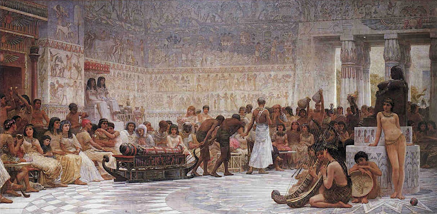 Long Edwin Longsden An Egyptian Feast copie