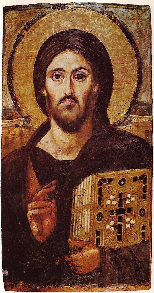 Christ Icon Sinai 6th century copie