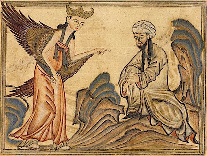 Mohammed receiving revelation from the angel Gabriel copie
