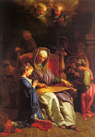 332px-Jean Jouvenet The Education Of The Virgin