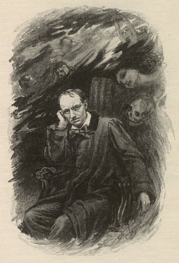 Charles Baudelaire by Georges Rochegrosse and Eugene Decisy