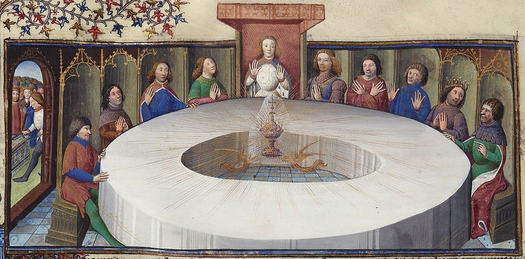 1024px Holy grail round table bnf ms 120 f524v 14th detail
